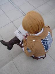Armin reads Karneval-manga XD by Juuka-chan