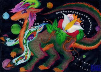 Flaurei the Flora Dragon by Kerorowong