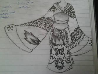 Dragon Kimono by Kerorowong