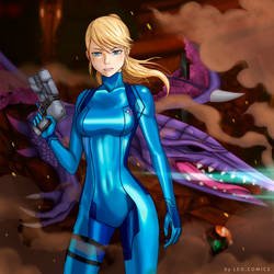Zero suit Samus by Hoel-ART
