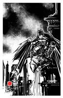 Batman, protector of Gotham by seanplenahan