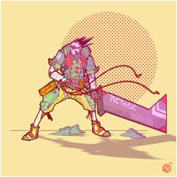 neotokyo cyberpunk samurai by seanplenahan