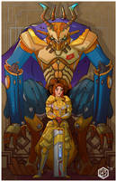 Beauty and the Beast by seanplenahan