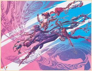 Colored Alex Nino print.  by seanplenahan