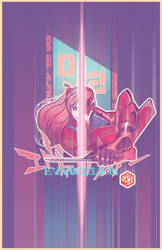 Eva 002 and Asuka Evangelion Neon Genesis by seanplenahan