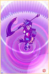 Ninja Girl with Sythe by seanplenahan