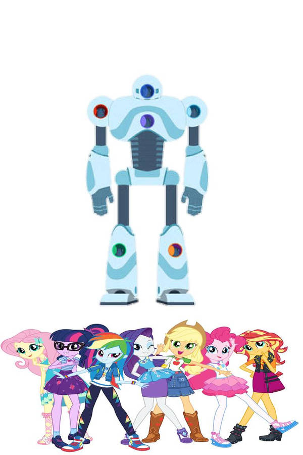 mane 7 rah rah robot by Starwolf08