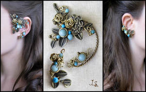 Set of ear cuffs Garden of Emir of Bukhara by JuliaKotreJewelry