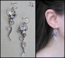 Silver earrings - collection First spring flowers by JuliaKotreJewelry