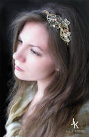 Headpiece Honey meadow by JuliaKotreJewelry
