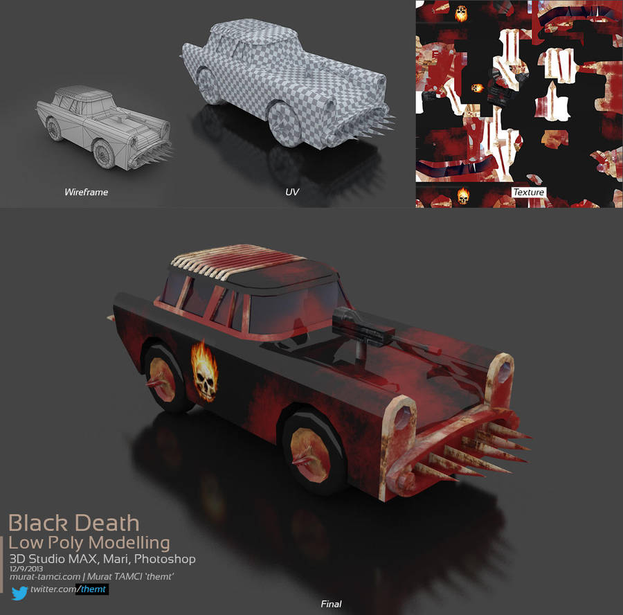 Deadly Car - Low Poly Modelling by themt
