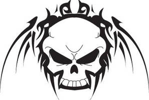 Tribal Skull by Cr8Insanity