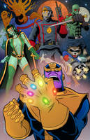 Thanos and the Guardians of the Galaxy by GeorgeGraybill