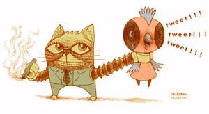 badcat vs chica by bawayan