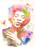 Jimi Hendrix by justbuzz