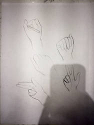 Hand sketches by Senraa