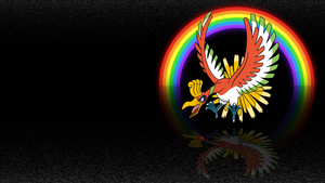 . Pokemon Wallpaper . Ho-Oh . by Flows-Backgrounds