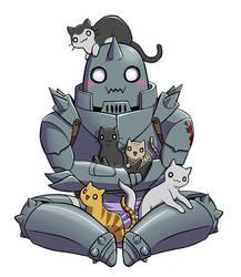 Alphonse luvs kitties by Zyephens-Insanity