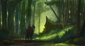 Forest Speed Painting by KlausPillon