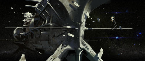 Spacecraft Derelict by KlausPillon