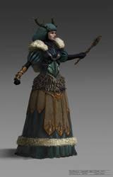 Acaratus Concept Art - Veturoth's Queen - by KlausPillon