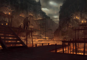 Ur Ghom, City of Caves by KlausPillon