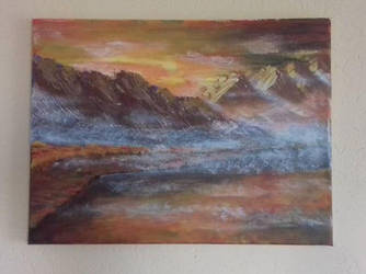 'The fog' - acrylic painting (2017) by basgroll
