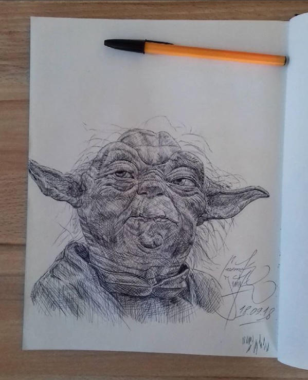 Yoda by basgroll