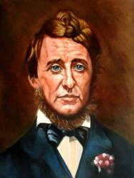 portrait of Henry David Thoreau by hidemitadajp