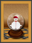 Mandel Snowman... by LaxmiJayaraj