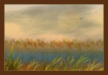 Autumn Lake... by LaxmiJayaraj