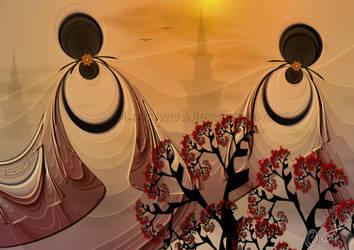On their way to the Pagoda... by LaxmiJayaraj