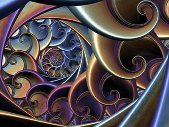 Curly Spiral by LaxmiJayaraj