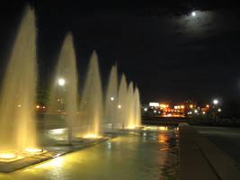 Midnight fountain by NaturalBornCamper