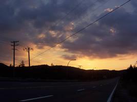 Orange sky by NaturalBornCamper