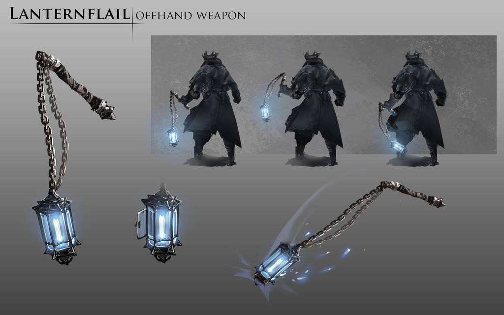 bloodborne fanart lanternflail weapon idea by daemonstar on deviantart