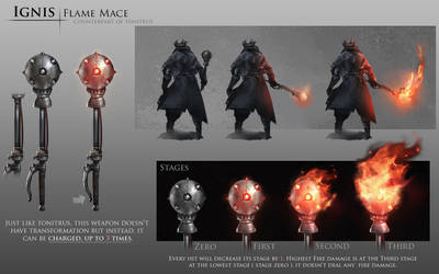Bloodborne Fanart - Ignis weapon idea by daemonstar