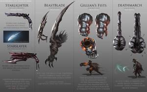 Bloodborne Fanart - Weapon ideas by daemonstar
