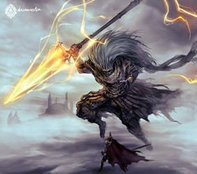 Dark Souls III Fanart - The Nameless King by daemonstar
