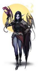 Dragongirl by daemonstar
