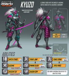 Overwatch Fan Concept - Hero - Kyuzo by daemonstar