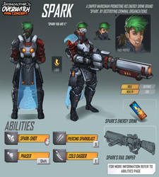 Overwatch Fan Concept - Hero - Spark by daemonstar