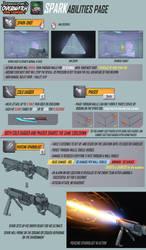 Overwatch Fan Concept - Hero - Spark (ABILITIES) by daemonstar