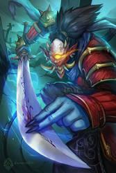 One-Eyed Demon Samurai by daemonstar