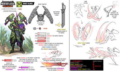 Monster Hunter World Fan Concept - Impact Blades by daemonstar