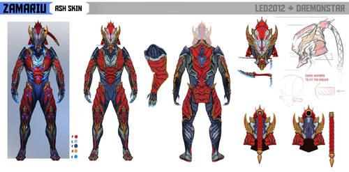 Ash Zamariu Skin (Warframe Tennogen) by daemonstar