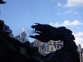 Dragon fountain by Grumzz