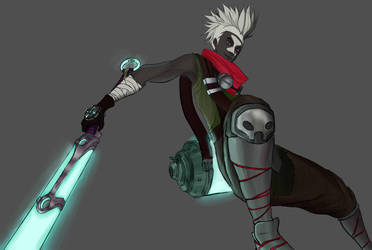 Ekko in progress by FireDrawing