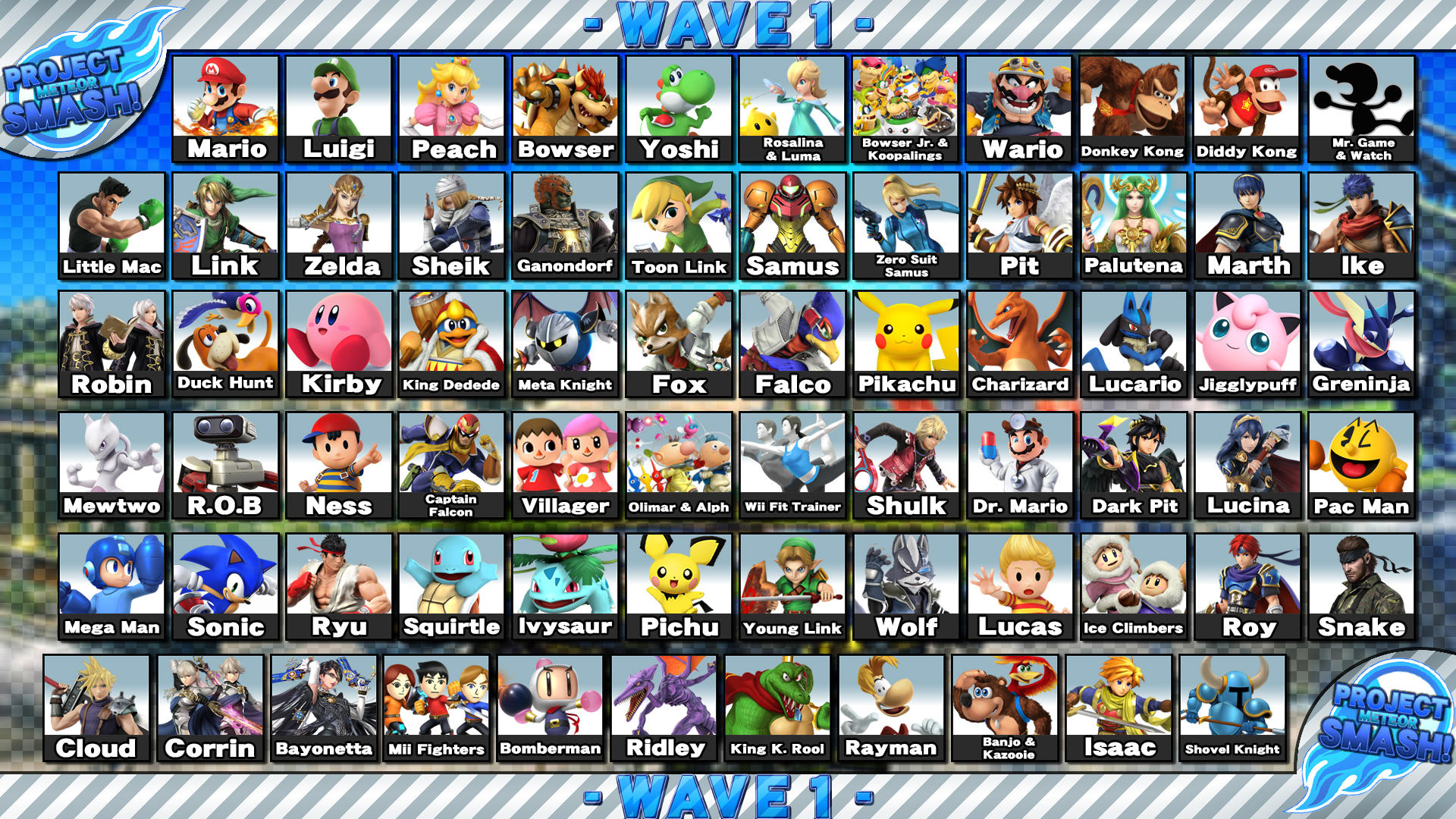 Project Meteor Smash! - Wave 1 (9/28/16) by Leafpenguins