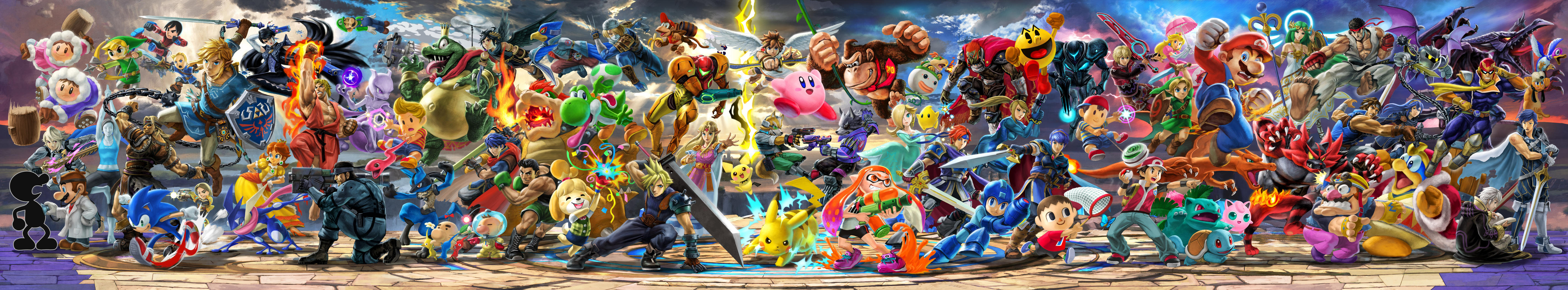 Super Smash Bros. Ultimate OFFICIAL Panoramic Art by Leafpenguins